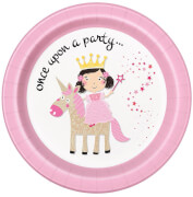 Princess & Unicorn Pappteller 23cm 8 Stück
