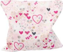 Traubenkern-Kissen 12x12 cm, Herzchen rosa
